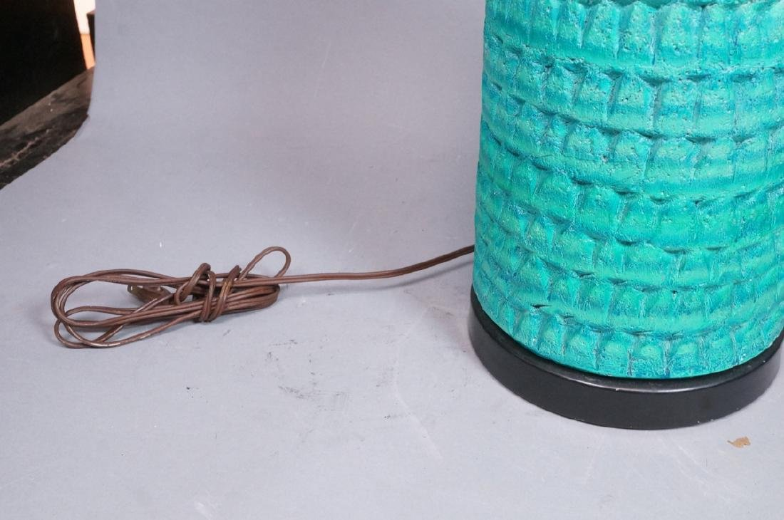 2pcs Italian Glazed Pottery Table Lamps. Rich tur - 4
