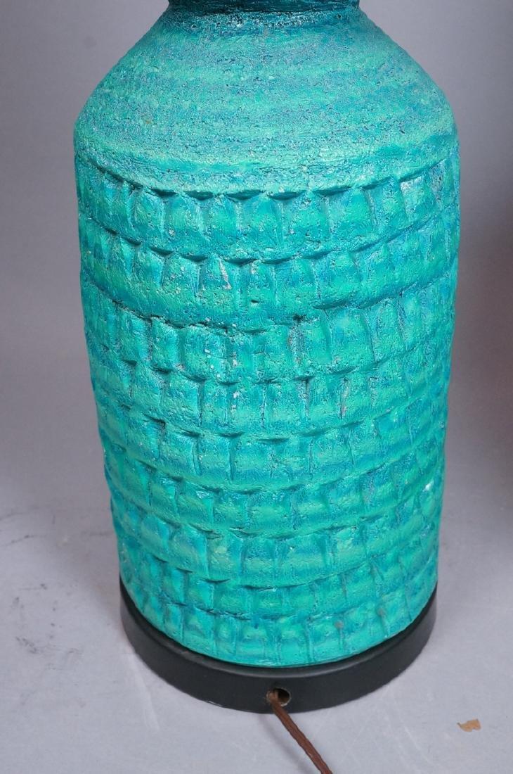 2pcs Italian Glazed Pottery Table Lamps. Rich tur - 6