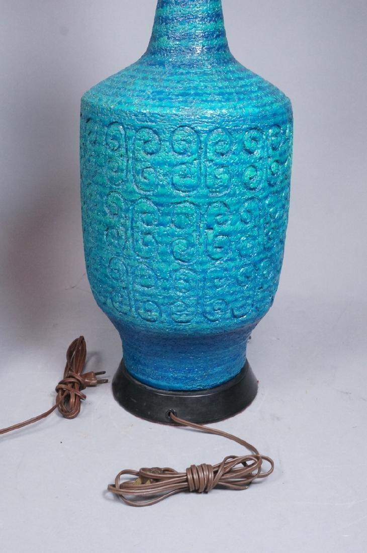 2pcs Italian Glazed Pottery Table Lamps. Rich tur - 7