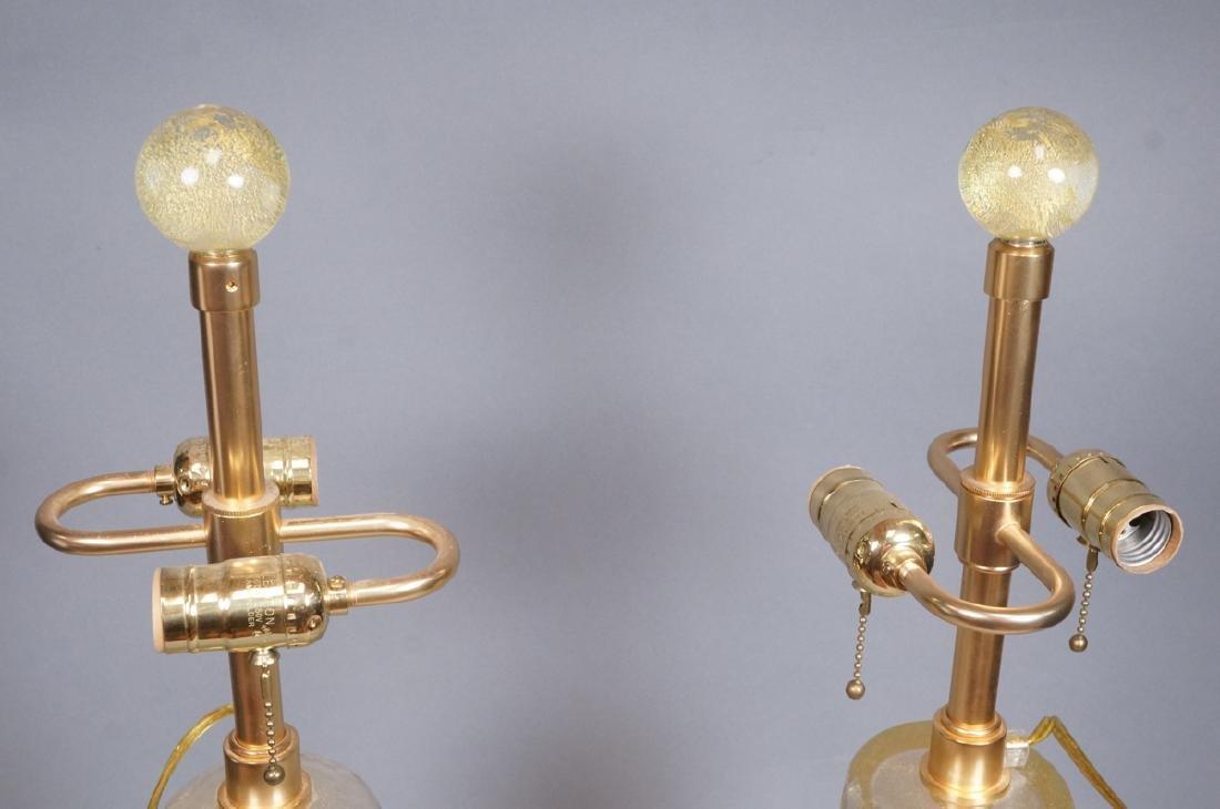 Pr Murano Italian Glass Art Glass Table Lamps.  T - 2