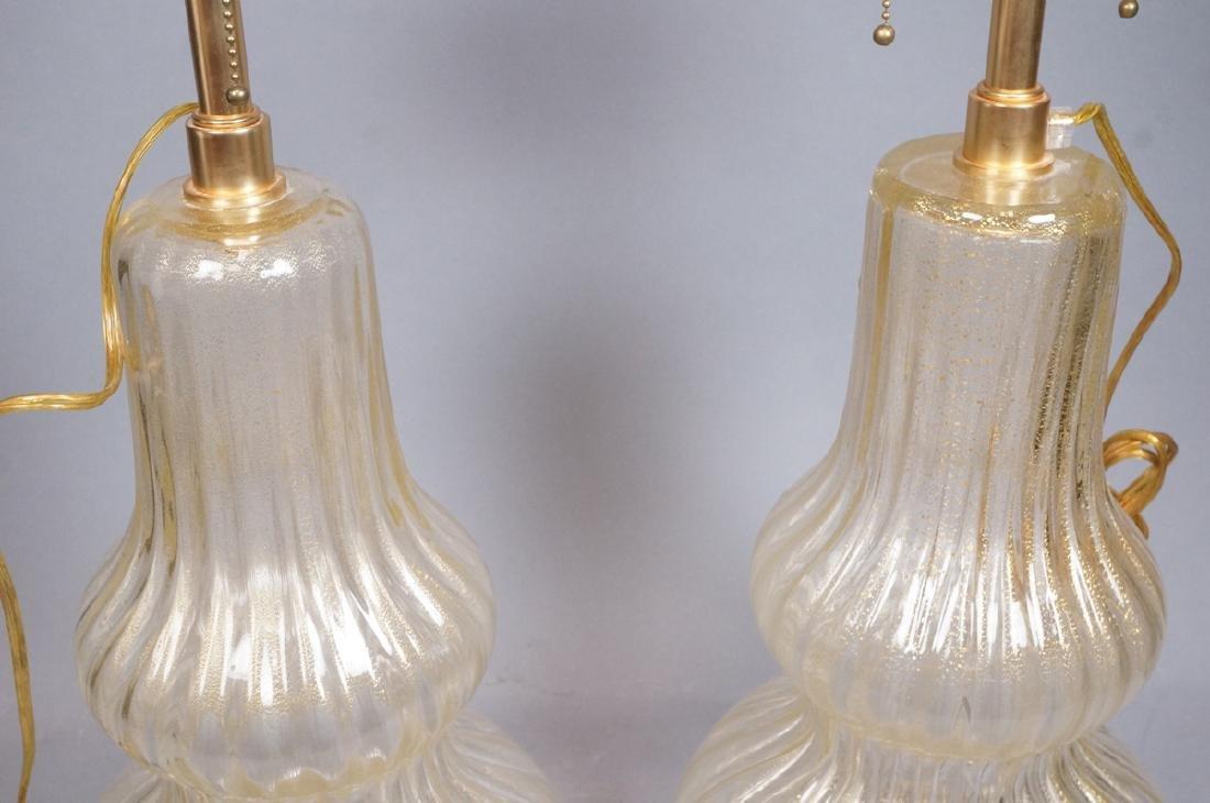 Pr Murano Italian Glass Art Glass Table Lamps.  T - 3
