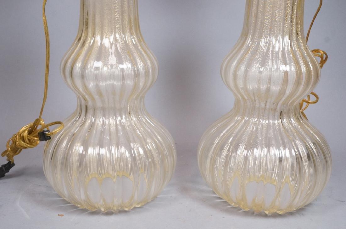 Pr Murano Italian Glass Art Glass Table Lamps.  T - 4