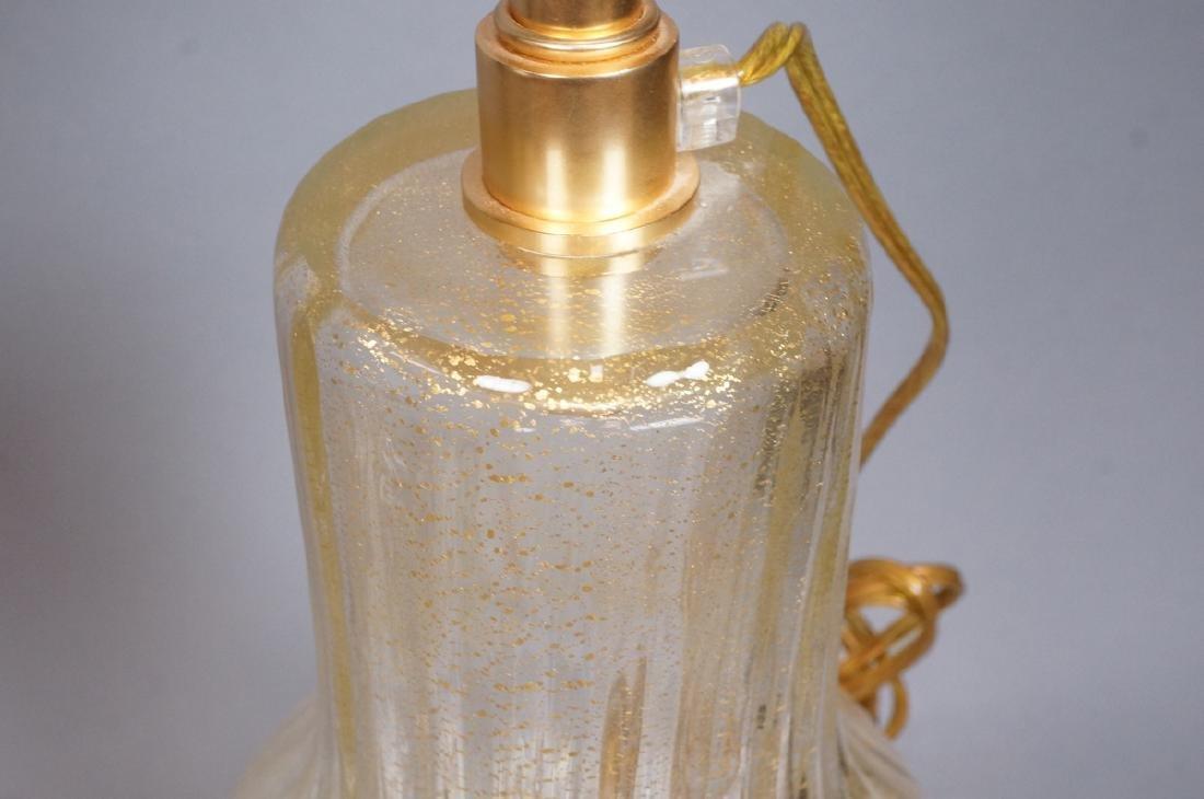 Pr Murano Italian Glass Art Glass Table Lamps.  T - 7