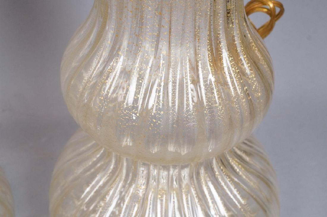 Pr Murano Italian Glass Art Glass Table Lamps.  T - 8