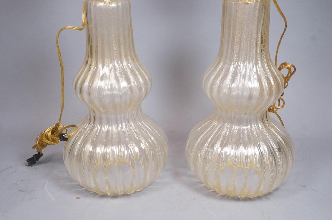 Pr Murano Italian Glass Art Glass Table Lamps.  T - 9