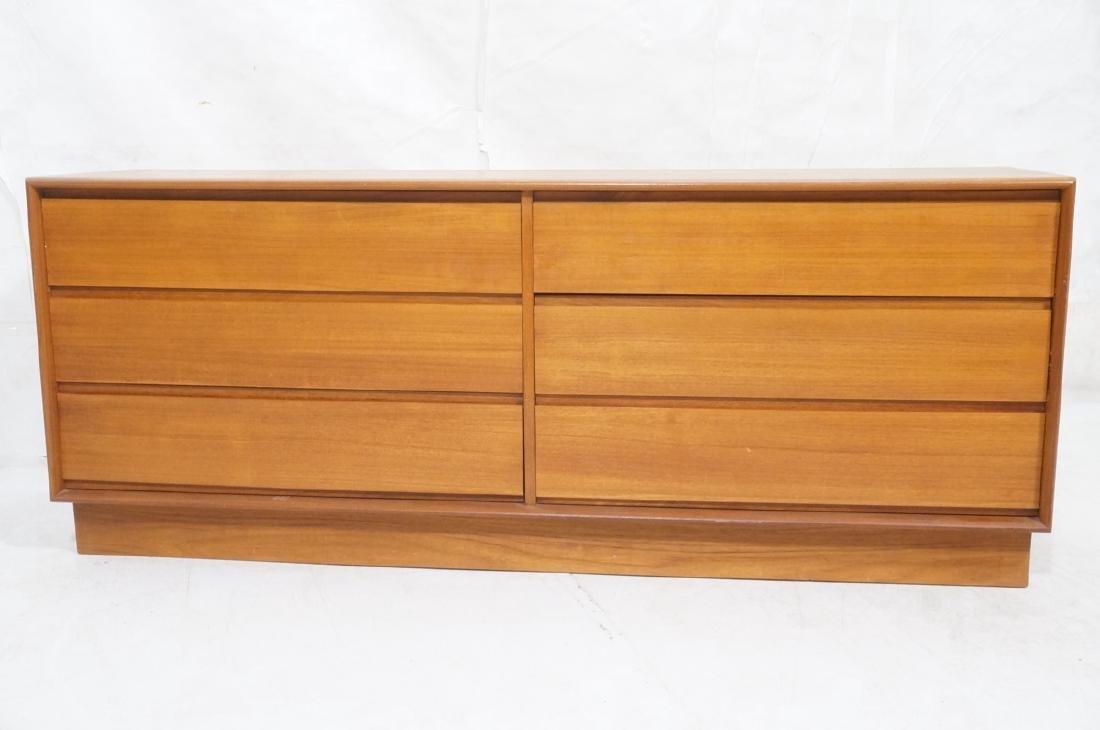 Danish Modern Teak ART FURN Six Drawer Dresser. b - 2