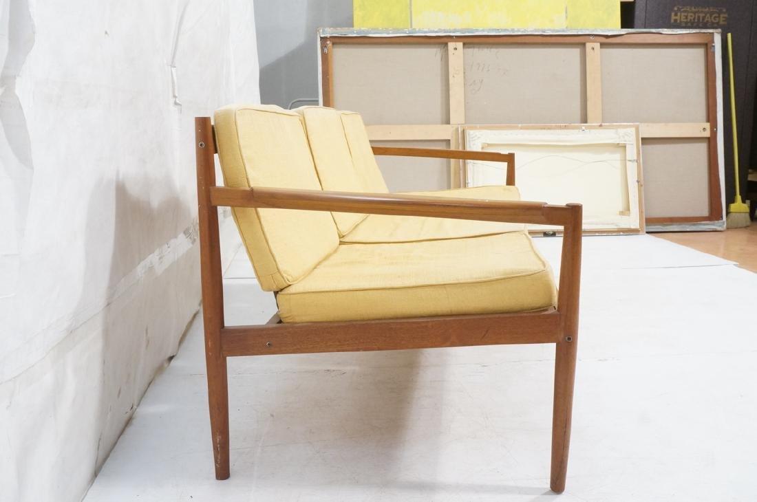 DUX Style Teak Modern Sofa couch. Curved wide sla - 3