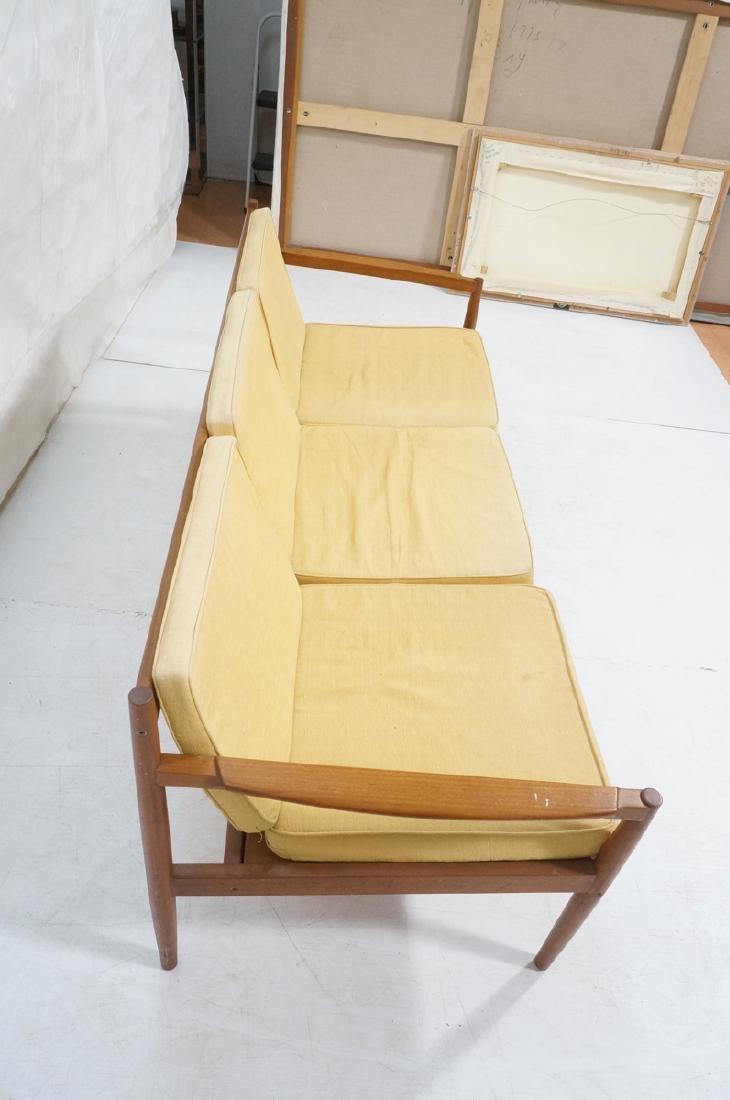 DUX Style Teak Modern Sofa couch. Curved wide sla - 5