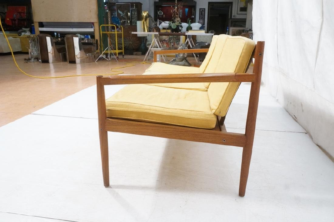 DUX Style Teak Modern Sofa couch. Curved wide sla - 6
