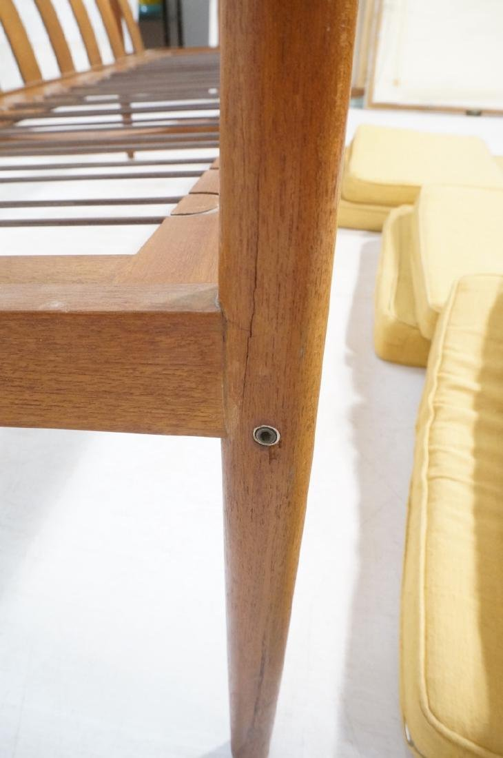 DUX Style Teak Modern Sofa couch. Curved wide sla - 8