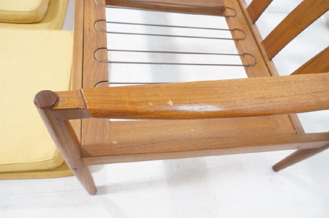 DUX Style Teak Modern Sofa couch. Curved wide sla - 9
