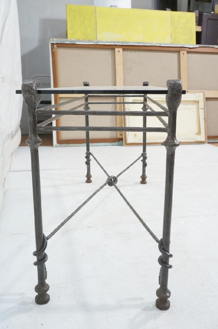 Decorator Wrought Iron Hammered Base Console Tabl - 5