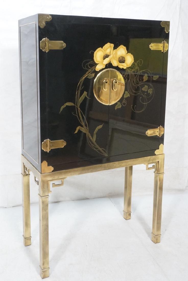 Mastercraft Cabinet on Brass Base.  Decorator Bla