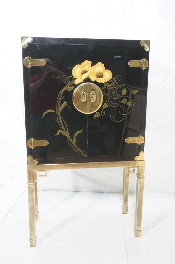 Mastercraft Cabinet on Brass Base.  Decorator Bla - 2