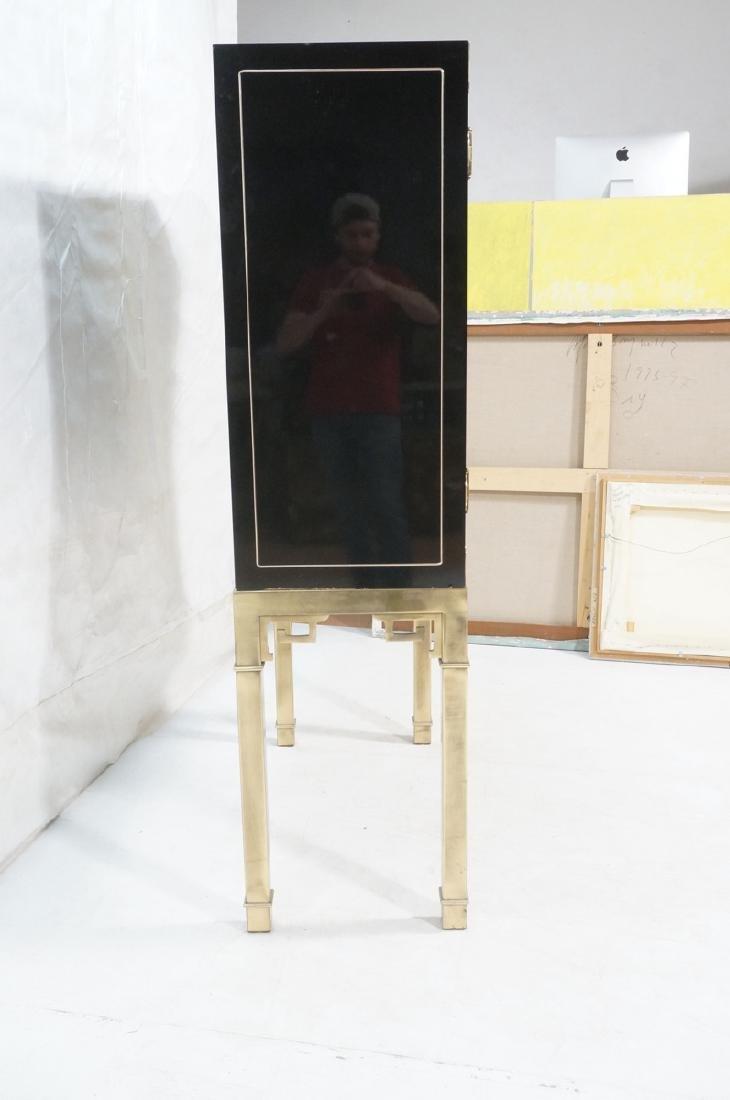 Mastercraft Cabinet on Brass Base.  Decorator Bla - 3