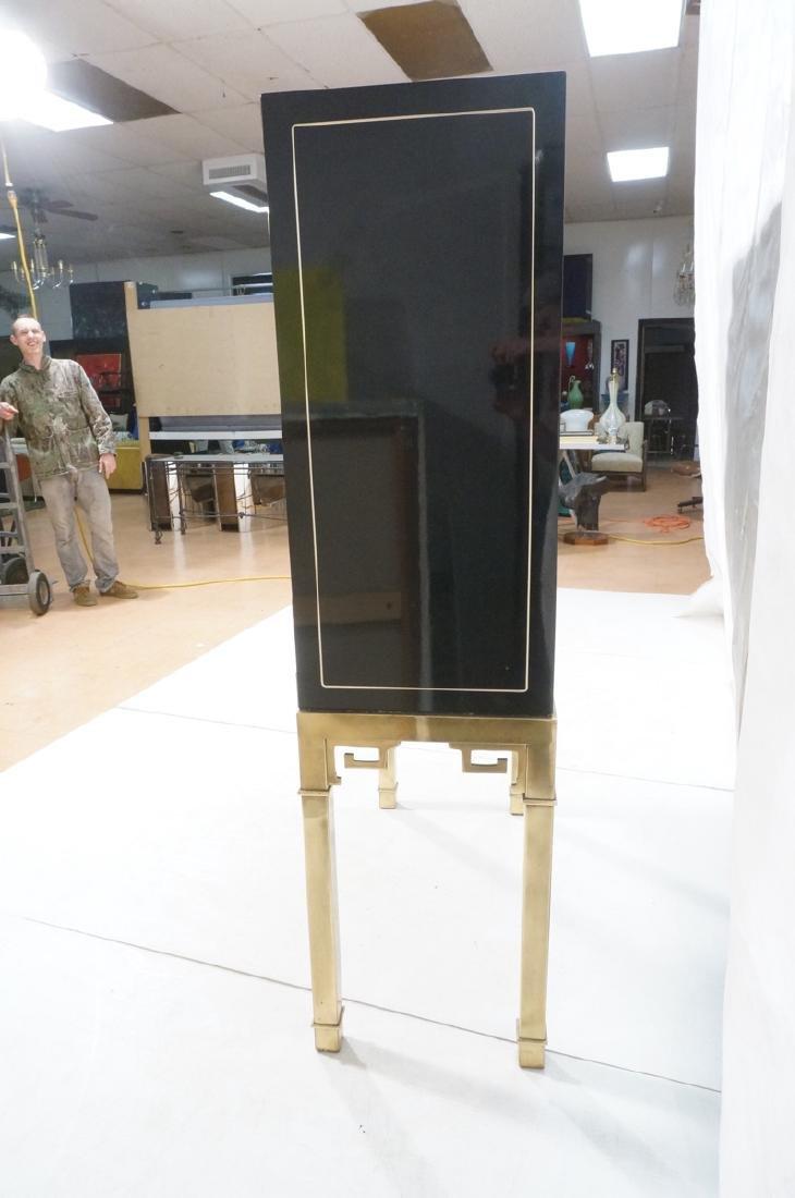 Mastercraft Cabinet on Brass Base.  Decorator Bla - 4