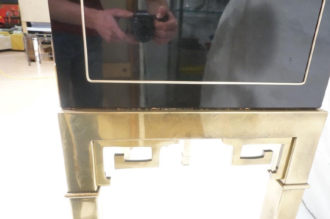 Mastercraft Cabinet on Brass Base.  Decorator Bla - 6