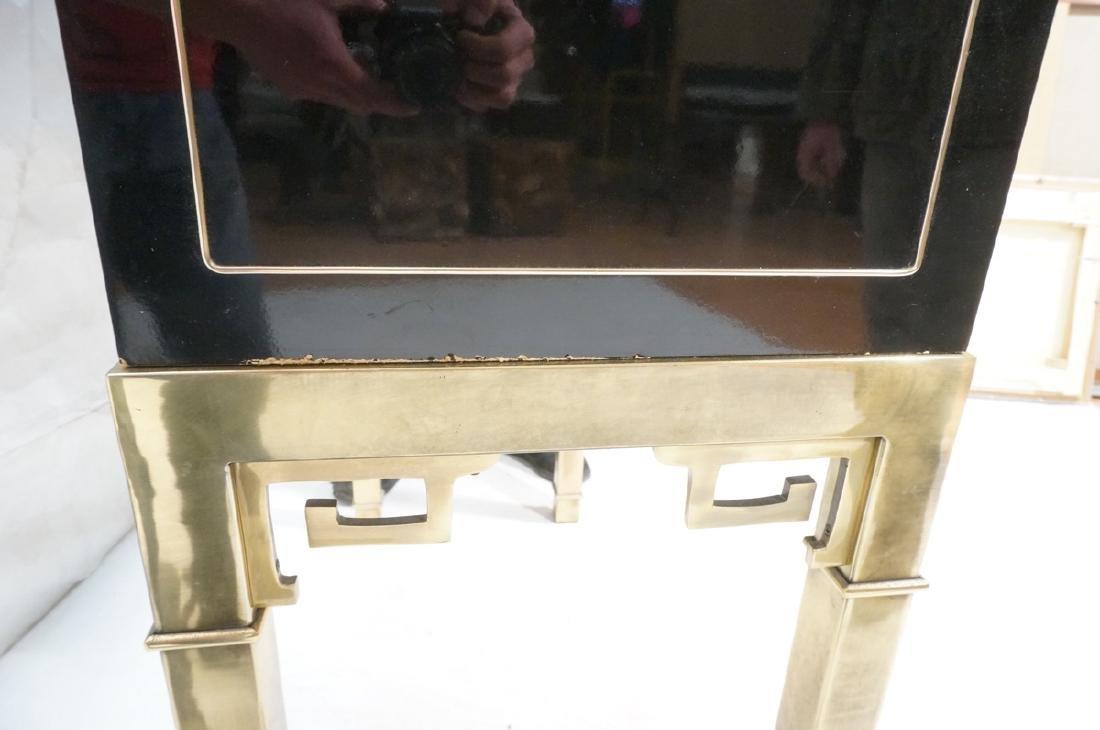Mastercraft Cabinet on Brass Base.  Decorator Bla - 7