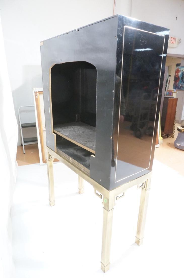 Mastercraft Cabinet on Brass Base.  Decorator Bla - 8