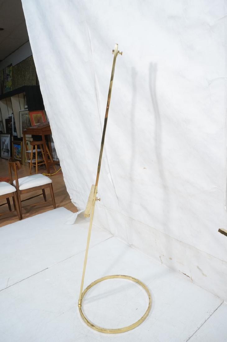 Pr Italian Brass Modern Display Easels. Round rin - 4