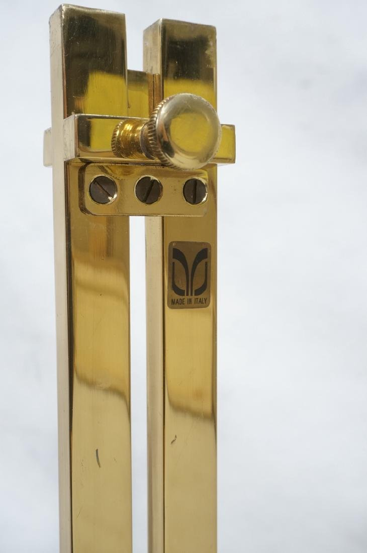 Pr Italian Brass Modern Display Easels. Round rin - 5