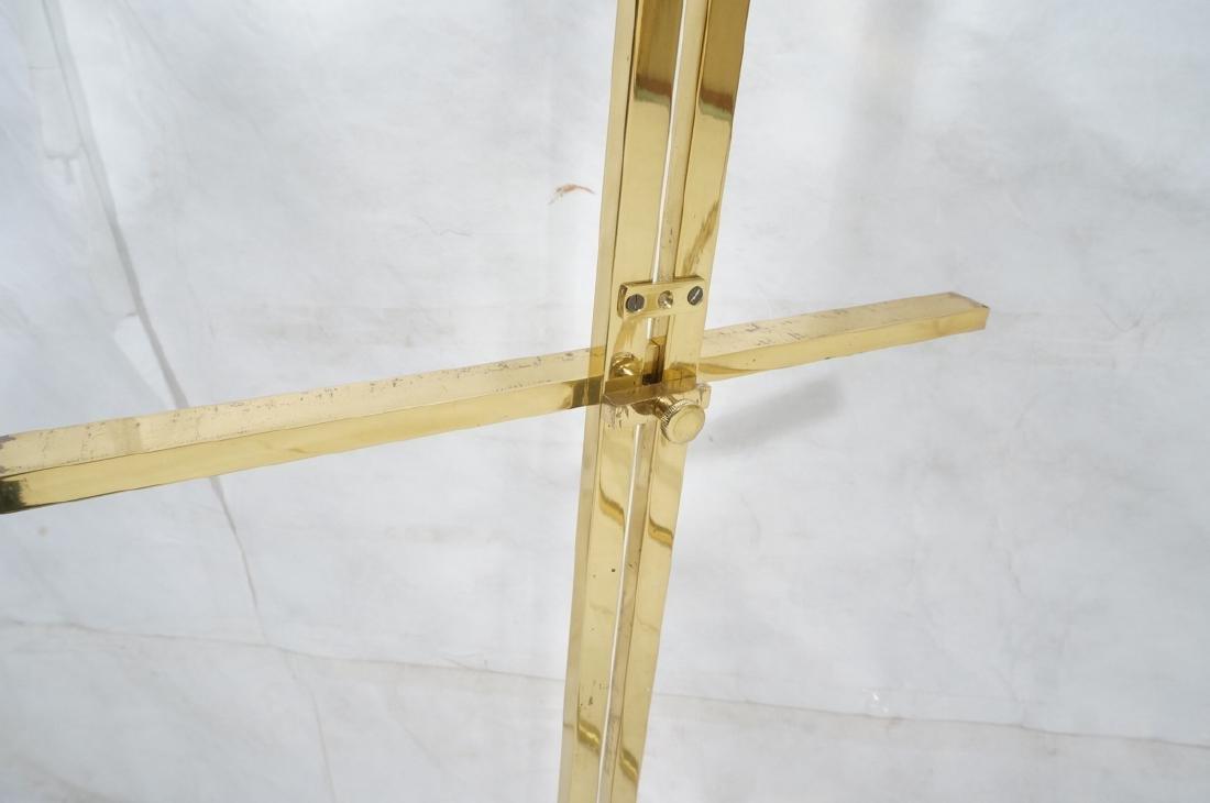 Pr Italian Brass Modern Display Easels. Round rin - 6