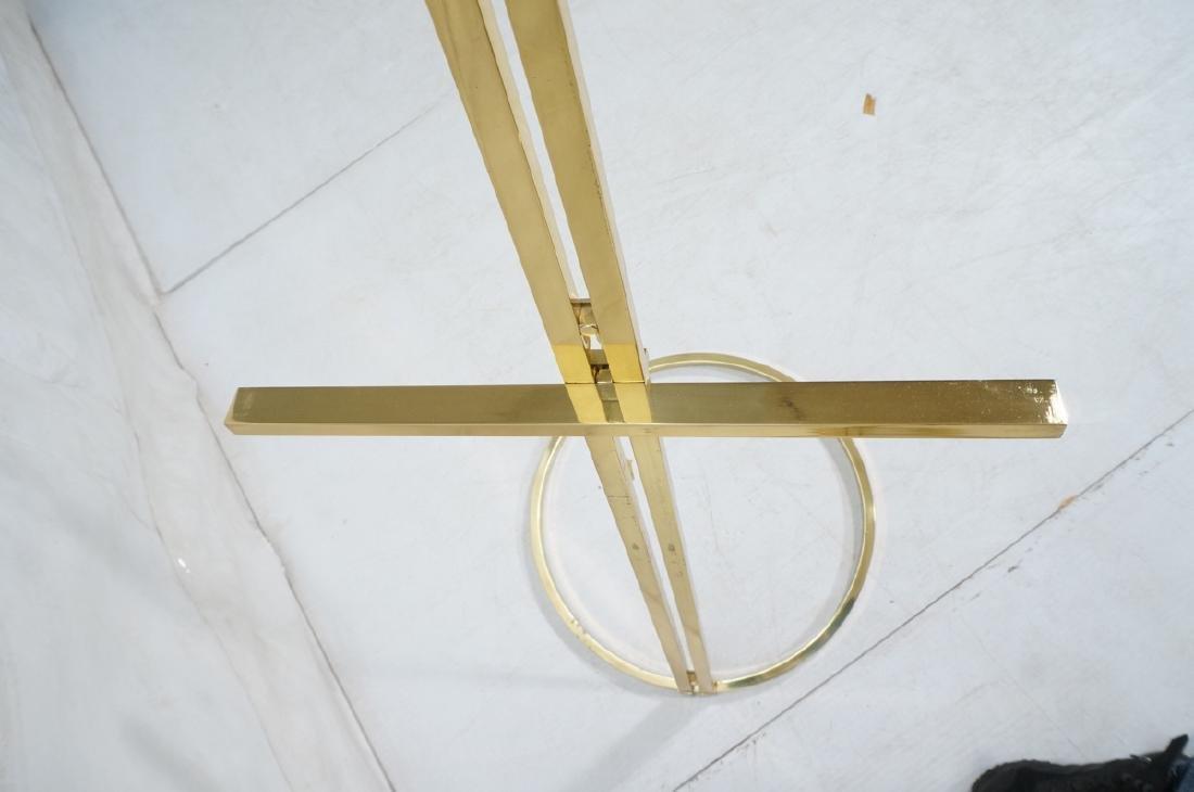 Pr Italian Brass Modern Display Easels. Round rin - 8