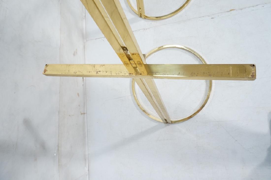 Pr Italian Brass Modern Display Easels. Round rin - 9
