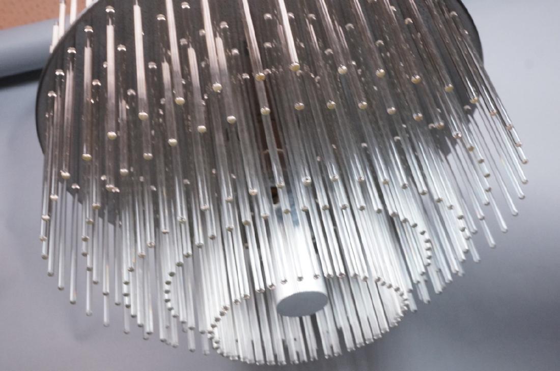 SCIOLARI Glass Rod Modern Chandelier. Three level - 2