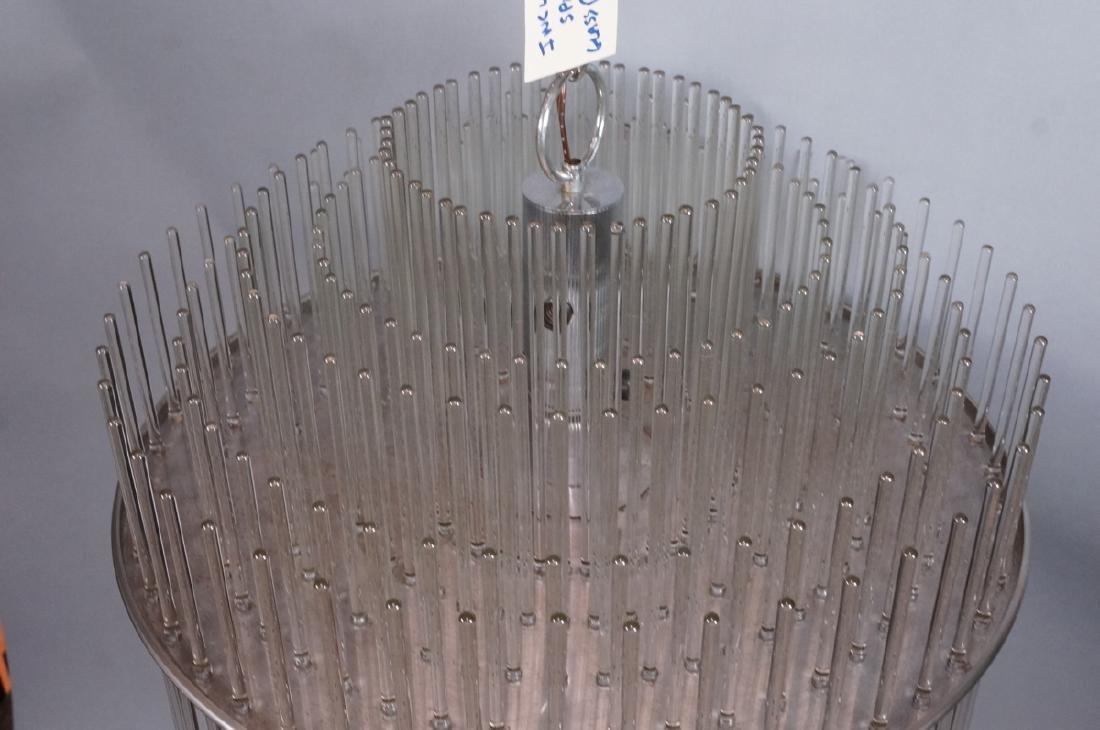 SCIOLARI Glass Rod Modern Chandelier. Three level - 3