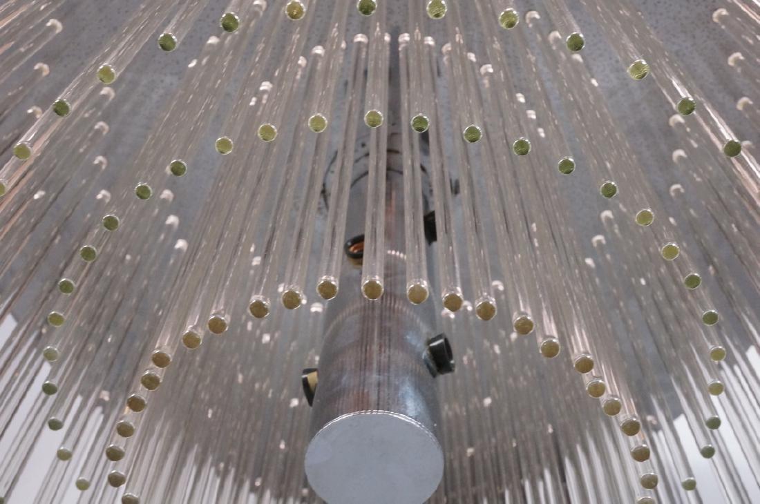 SCIOLARI Glass Rod Modern Chandelier. Three level - 6