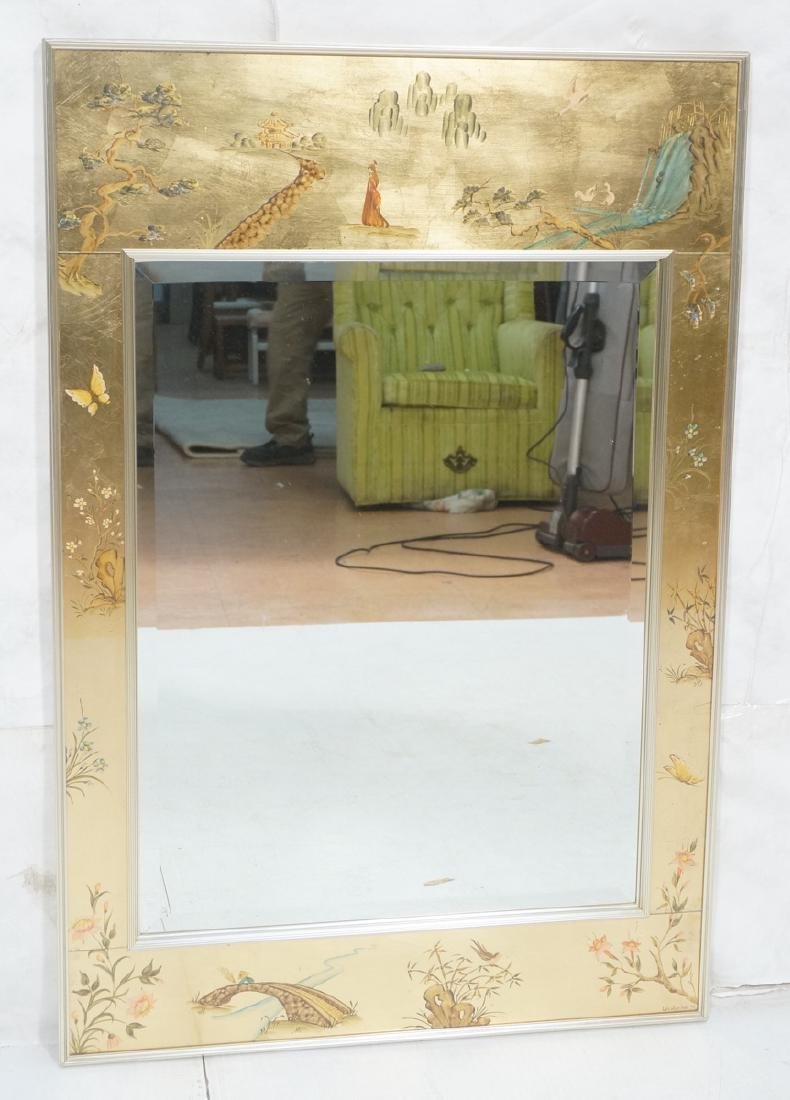 LaBARGE Eglomise Wall Mirror. Signed Wester Hof '