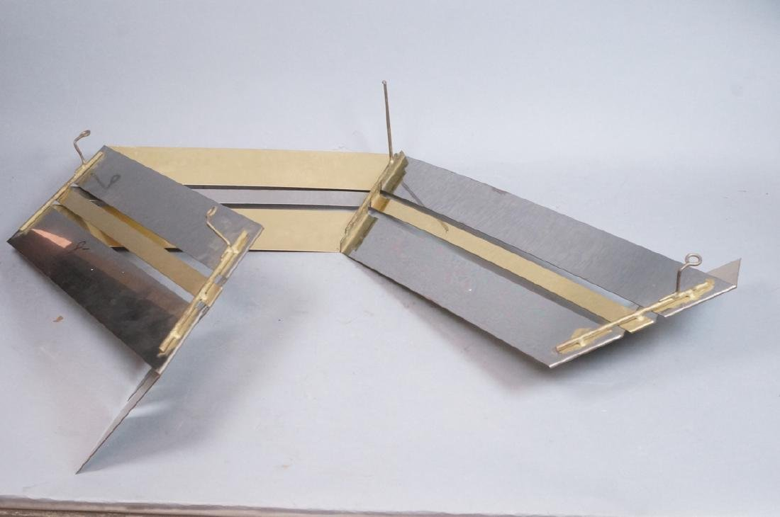 C JERE Brass & Stainless Wall Sculpture. Folded r - 7
