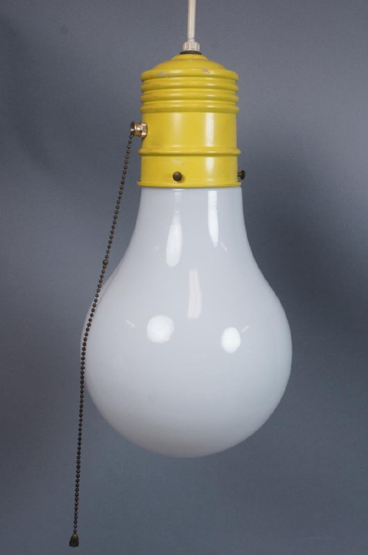 Small Modernist Light Bulb Hanging Pendant Lamp.