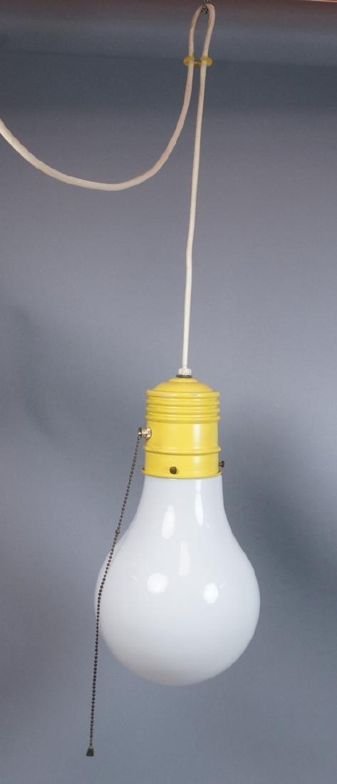 Small Modernist Light Bulb Hanging Pendant Lamp. - 2