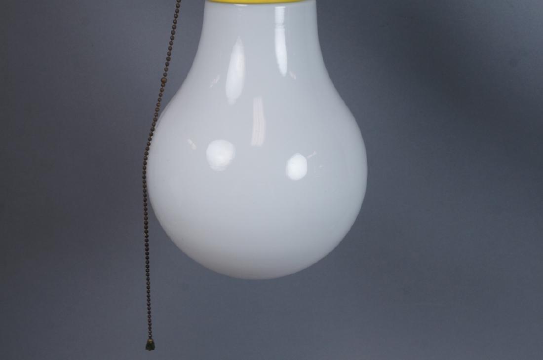 Small Modernist Light Bulb Hanging Pendant Lamp. - 5