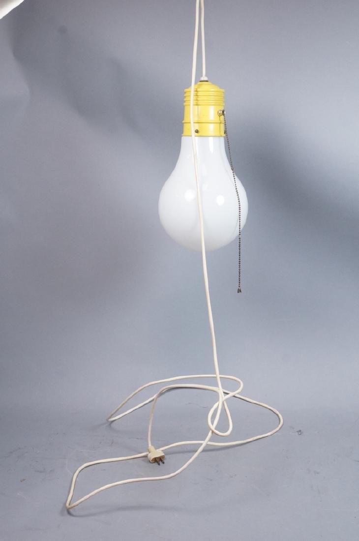 Small Modernist Light Bulb Hanging Pendant Lamp. - 6