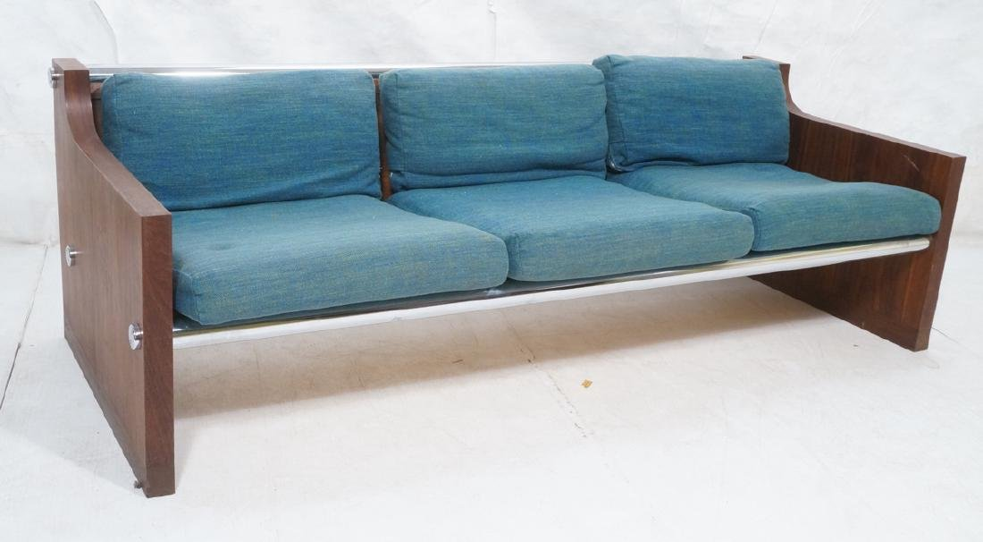 Rosewood Thick Chrome Tube Sofa Couch. Thick wall