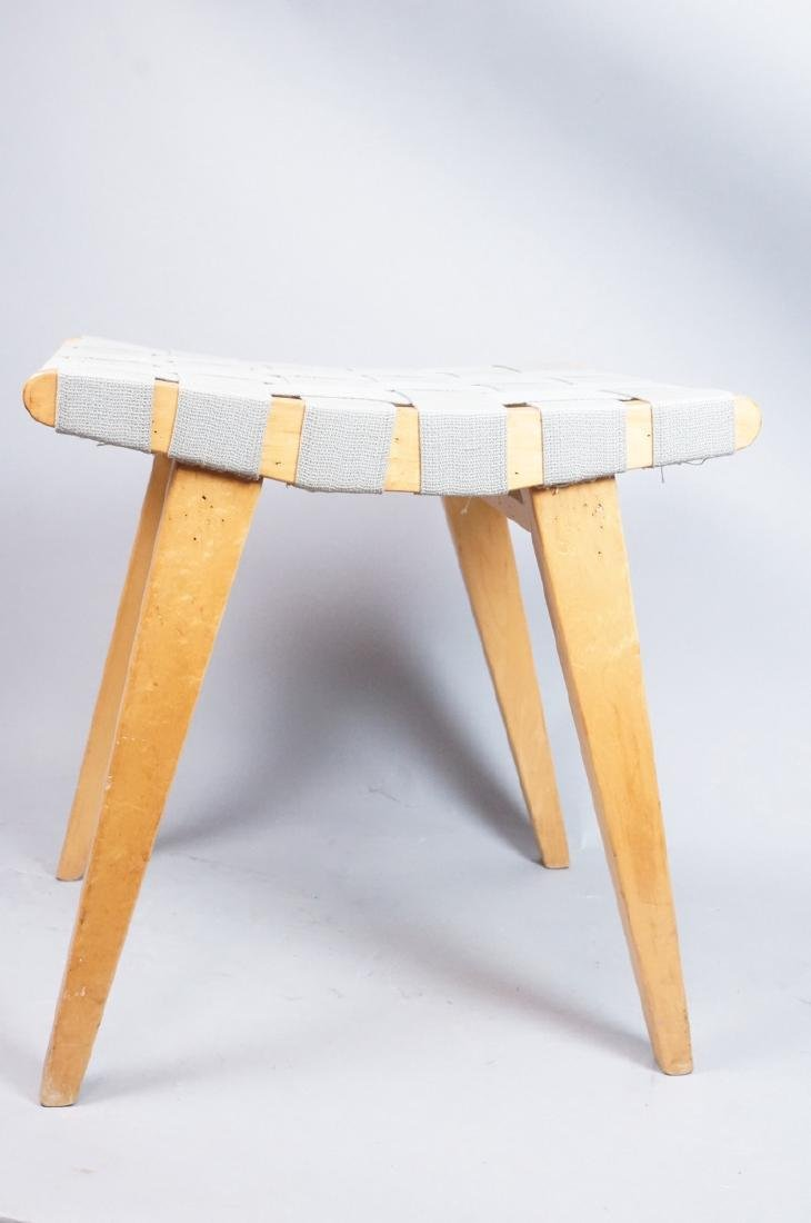 KNOLL ASSOC Woven Canvas Maple Stool Bench. Marke - 2