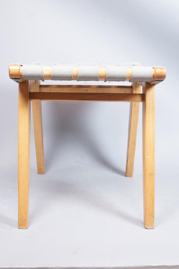 KNOLL ASSOC Woven Canvas Maple Stool Bench. Marke - 7