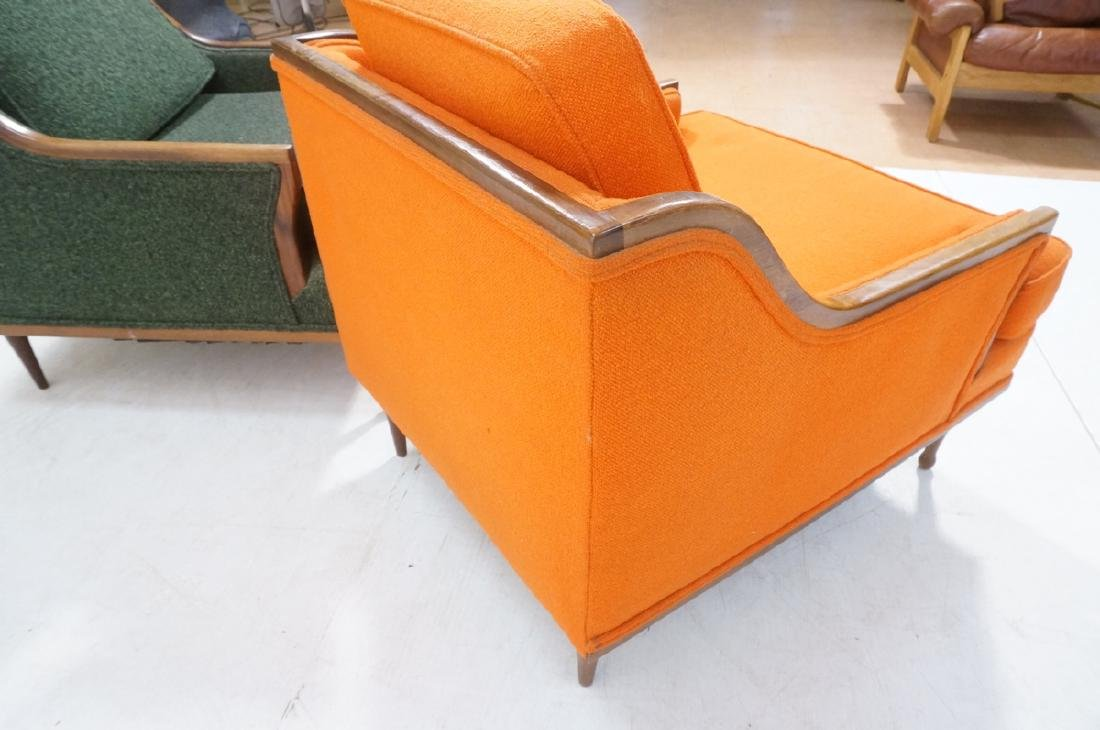 Pr American Modern Lounge Chairs. Green or Orange - 10
