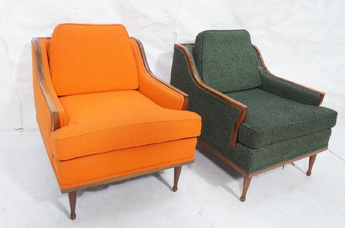 Pr American Modern Lounge Chairs. Green or Orange
