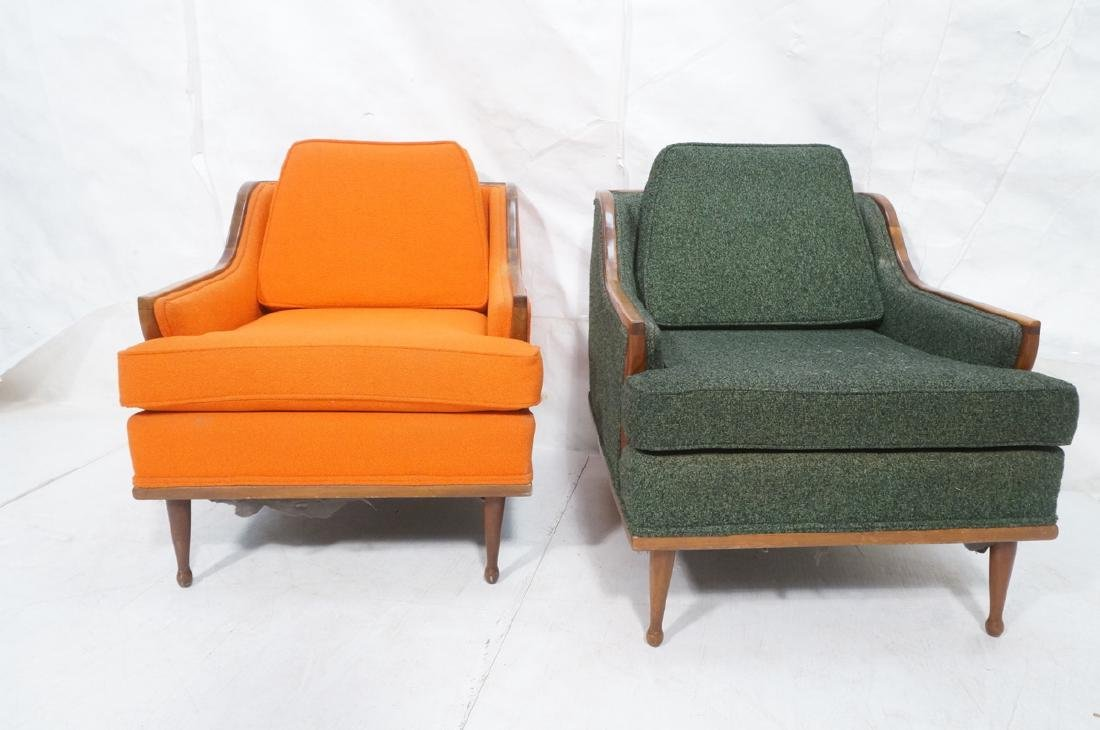 Pr American Modern Lounge Chairs. Green or Orange - 2