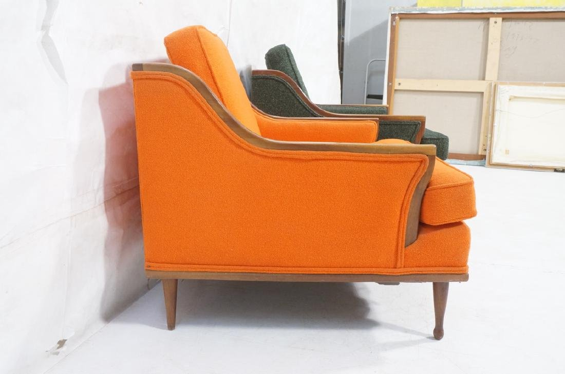Pr American Modern Lounge Chairs. Green or Orange - 3