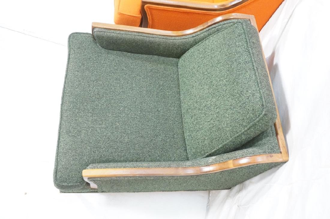 Pr American Modern Lounge Chairs. Green or Orange - 5