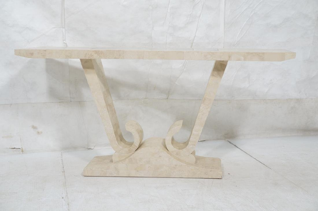 Maitland Smith Travertine Marble Tile Console Tab - 2