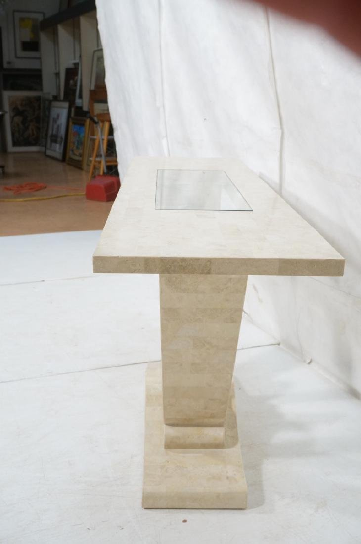 Maitland Smith Travertine Marble Tile Console Tab - 3