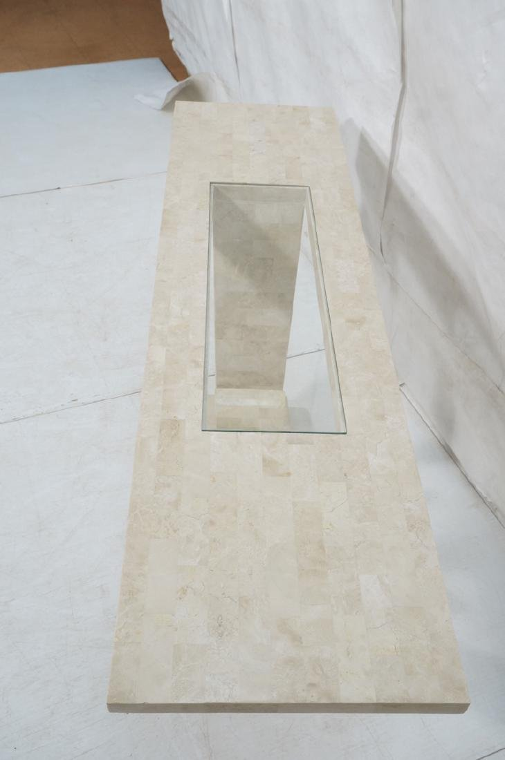 Maitland Smith Travertine Marble Tile Console Tab - 4