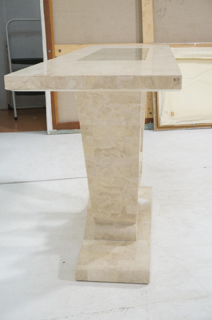 Maitland Smith Travertine Marble Tile Console Tab - 5