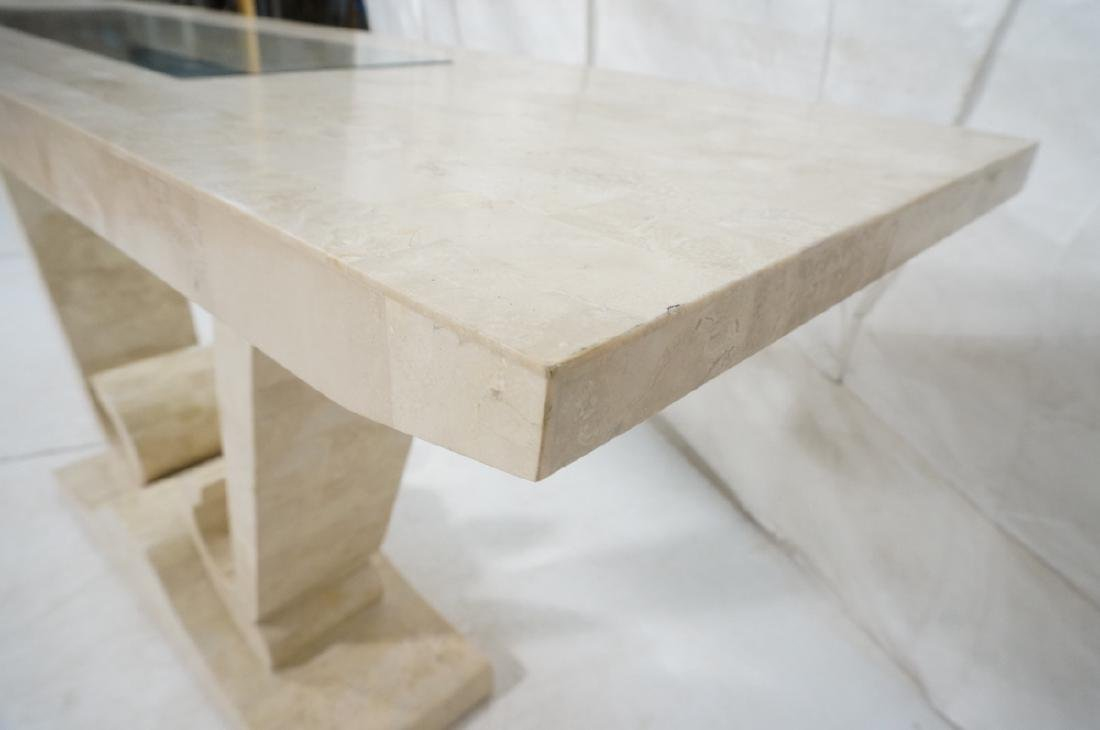 Maitland Smith Travertine Marble Tile Console Tab - 8